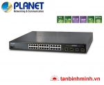 Switch 24 Port Planet FGSW-2612PVM/ PoE